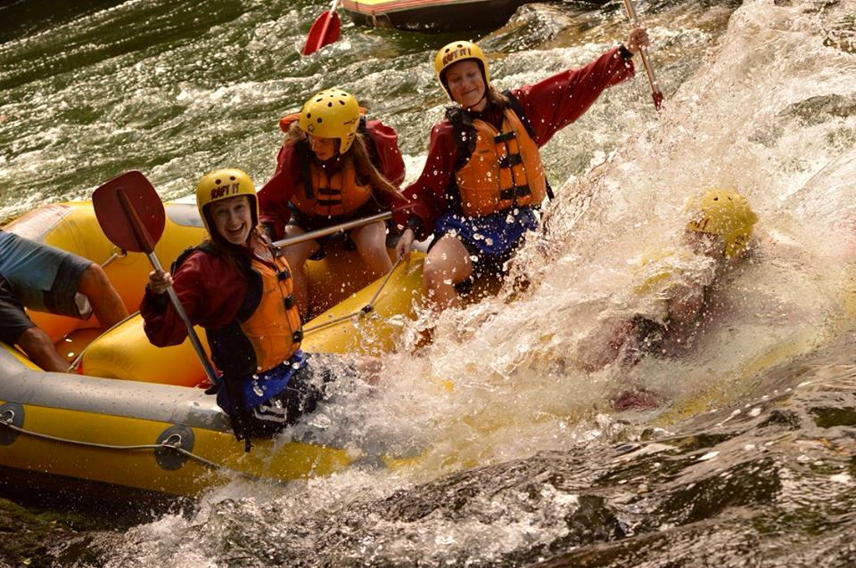 Extreme white water rafting on the Kaitiaki River in New Zealand