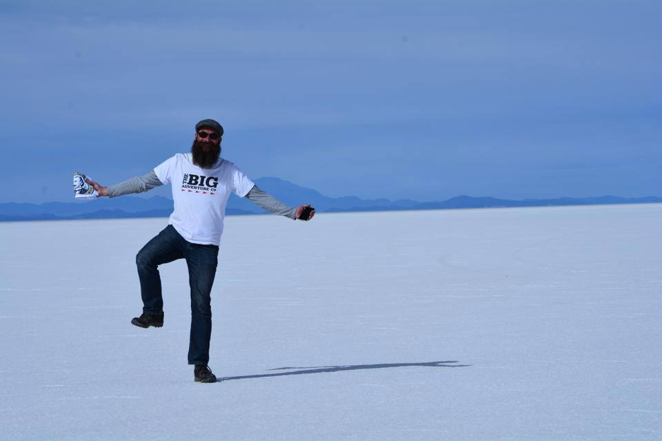 Steve at Salar de Uyuni - the world's largest salt flats