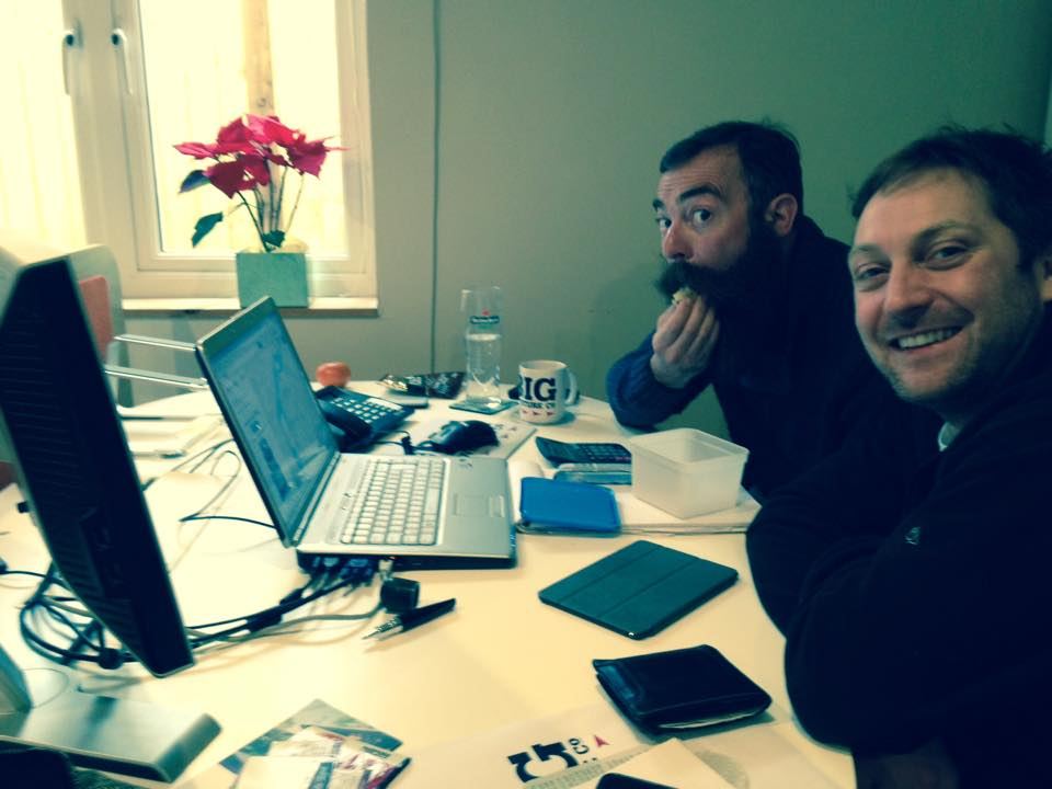 Steve & Nick hard at work in TBAC HQ in March