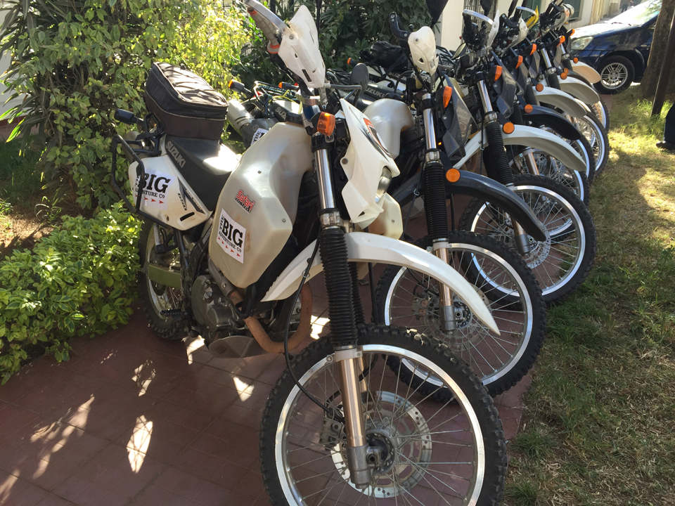 Cochabamba - bikes all ready to go