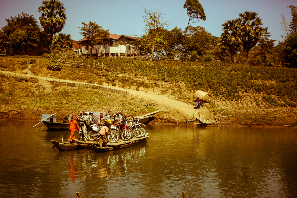 Cambodian river ferry