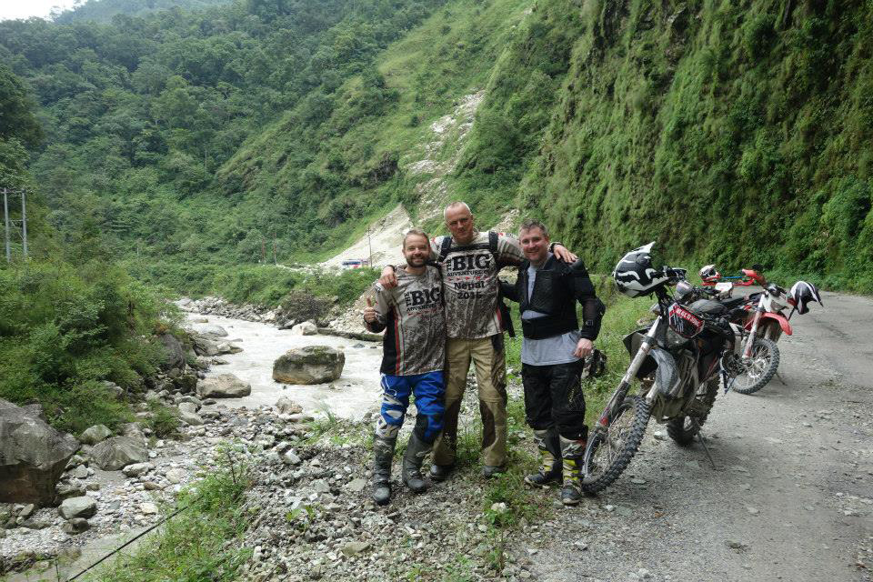 Matt Hogg, Peter Lagan and Peter Willner on our Nepal Dirt Bike Adventure in October