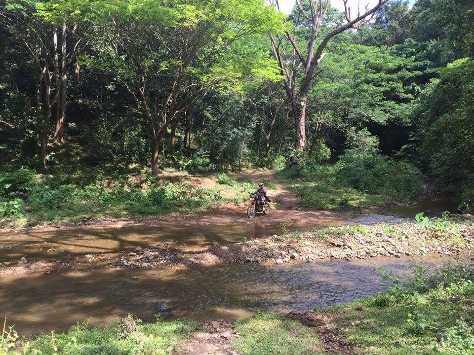 One of the many river crossings on day 3